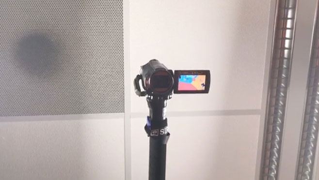 The camera to shoot the overhead video